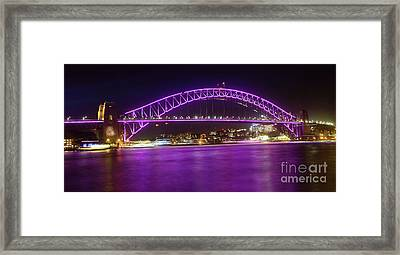 Framed Print featuring the photograph The Purple Coathanger By Kaye Menner by Kaye Menner