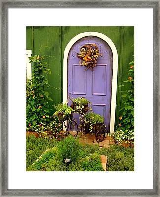 The Purple Door Framed Print