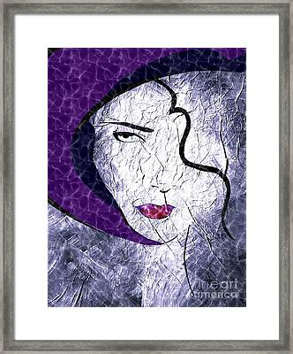 The Purple Hat Framed Print
