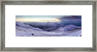 The Purple Headed Mountains Framed Print