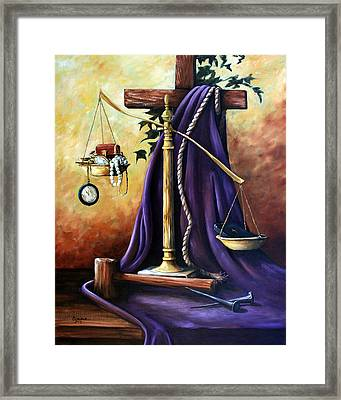 The Purple Robe Framed Print