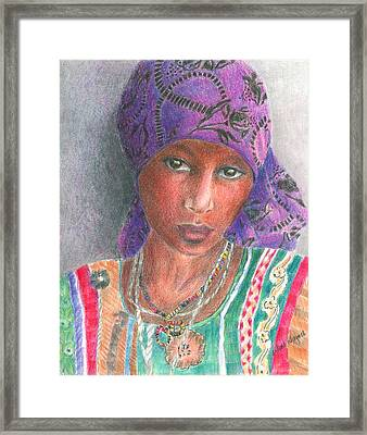 The Purple Scarf  Framed Print by Arline Wagner