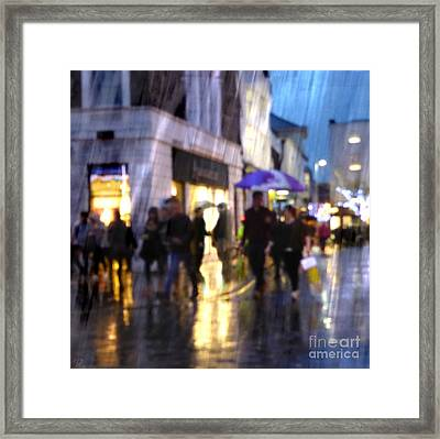 Framed Print featuring the photograph The Purple Umbrella by LemonArt Photography