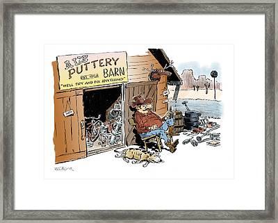 The Puttery Barn. Framed Print