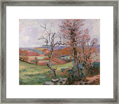 The Puy Barion At Crozant Framed Print by Jean Baptiste Armand Guillaumin