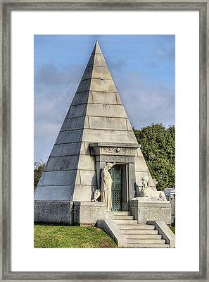 The Pyramid In Metairie Cemetery Framed Print