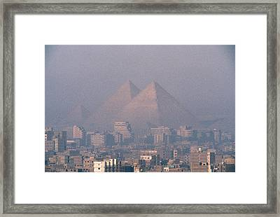 The Pyramids At Giza And Cairo Framed Print by Martin Gray