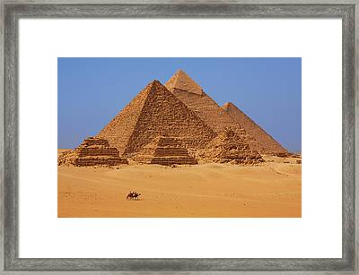 The Pyramids In Egypt Framed Print by Dan Breckwoldt
