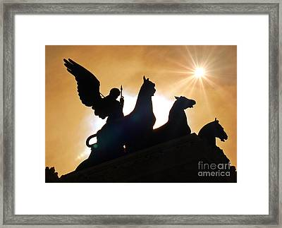 The Quadrigas, Monument To Vittorio Emanuele II, Rome, Italy IIi Framed Print
