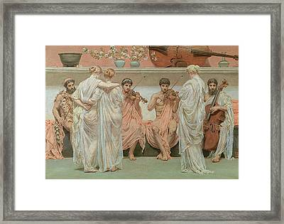 The Quartet, A Painters Tribute To Music Framed Print