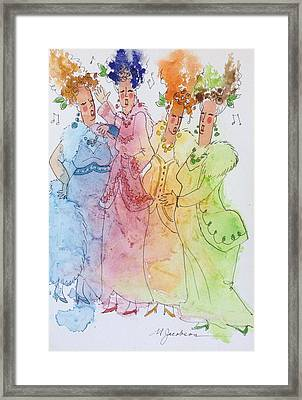 The Quartet Framed Print by Marilyn Jacobson