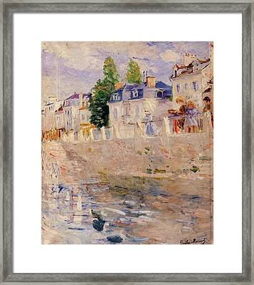The Quay At Bougival Framed Print