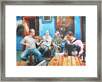 The Quay Players Framed Print