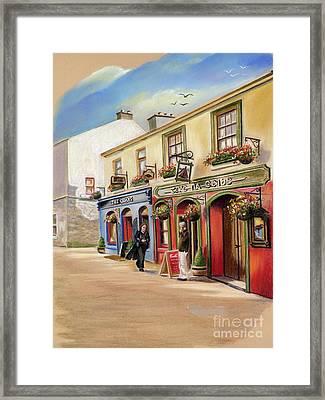 The Quays Pub Framed Print by Vanda Luddy
