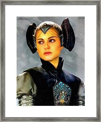 The Queen Amidala - Da Framed Print by Leonardo Digenio