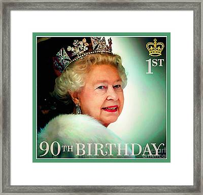 The Queen Attends The State Opening Of Parliament 2012 Framed Print