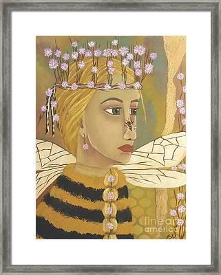 The Queen Bee's Honeycomb Framed Print