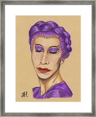 Framed Print featuring the drawing The Queen by Jean Haynes
