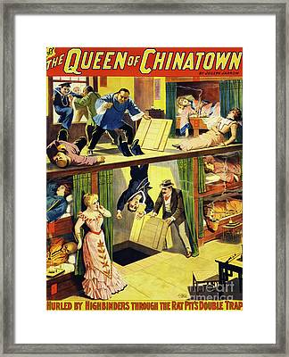 The Queen Of Chinatown Framed Print