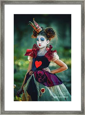The Queen Of Hearts Alice In Wonderland Framed Print