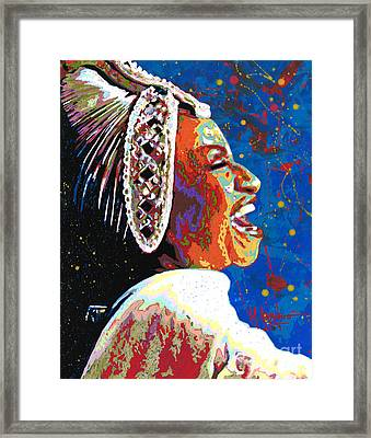 The Queen Of Salsa Framed Print by Maria Arango