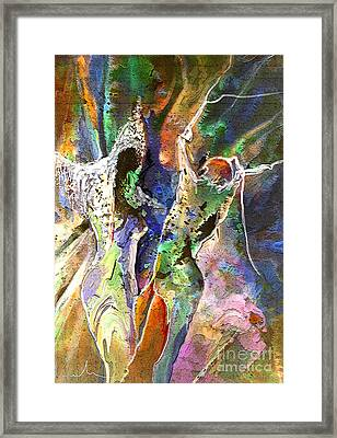 The Queen Of Sheba And King Solomon Framed Print by Miki De Goodaboom