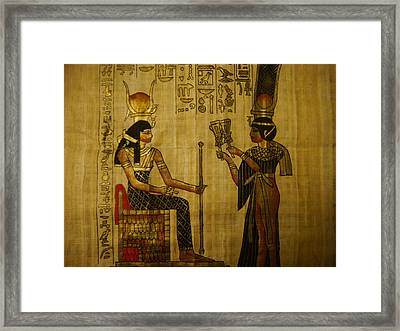 The Queen Of The Nile Framed Print by Joshua Massenburg