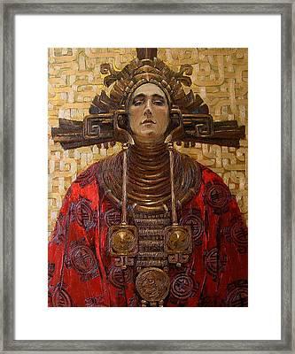 The Queen Of The Sun Framed Print by Goryaev Viktor