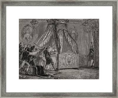 The Queen S Bedchamber Is Overrun, 5th Framed Print by Vintage Design Pics