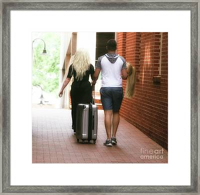 The Queen's Luggage  Framed Print