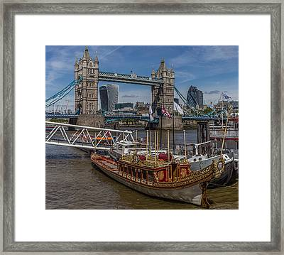 The Queen's Rowbarge Framed Print by Capt Gerry Hare