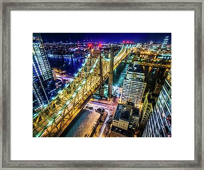 The Queensboro Bridge Nyc Framed Print by Nathan Beddows