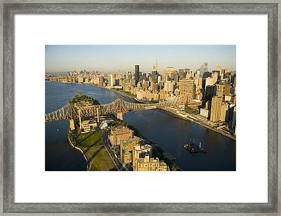 The Queensborough Bridge, Roosevelt Framed Print