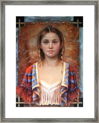 The Quiet Girl Framed Print by Loretta Fasan