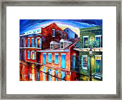 The Quiet On Burgundy Street Framed Print by Diane Millsap