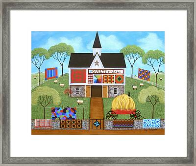The Quilt Barn Framed Print