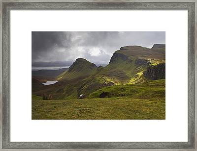 The Quiraing Isle Of Skye Scotland Framed Print by Gabor Pozsgai