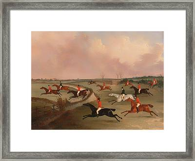 The Quorn Hunt In Full Cry Framed Print