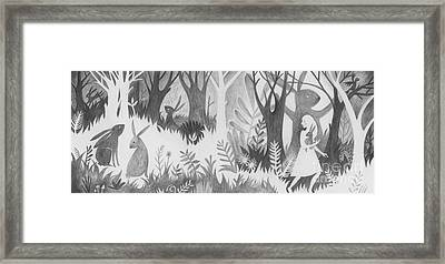 The Rabbit Thief Framed Print by Kate Cosgrove