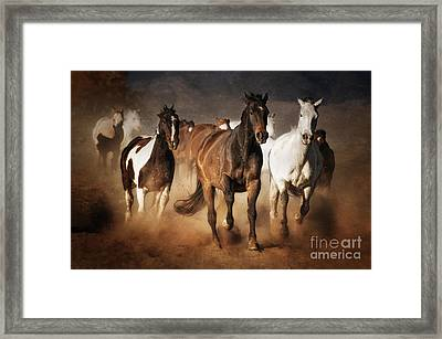 The Race Framed Print by Heather Swan