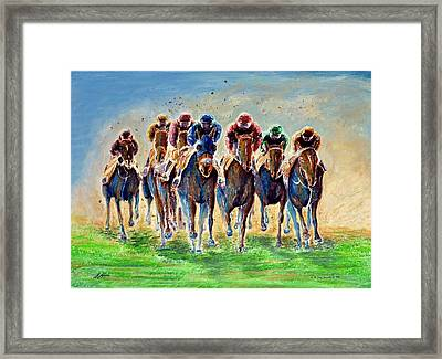 The Race Is On Framed Print by G W Jay Jacobs