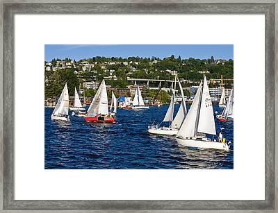 The Race Is On Framed Print by Tom Dowd