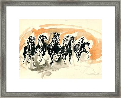 The Race Framed Print by Mary Armstrong