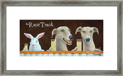 The Race Track... Framed Print by Will Bullas