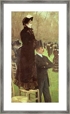 The Races At Auteuil Framed Print by Joseph de Nittis