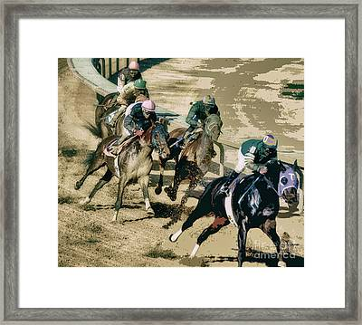 The Racetrack  Framed Print
