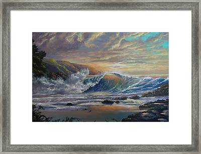 The Radiant Sea Framed Print by Marco Antonio Aguilar