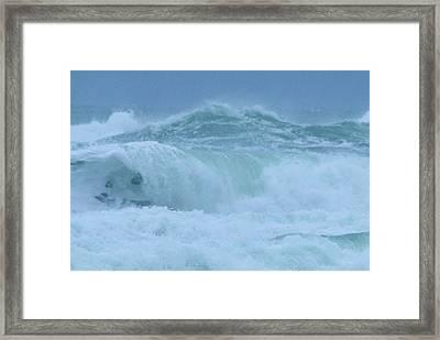 The Raging Ocean Framed Print by Jeff Swan