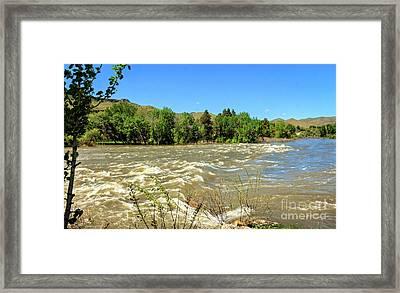 The Raging Payette River Framed Print