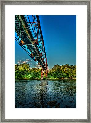 The Rail Bridge Framed Print by Marvin Spates